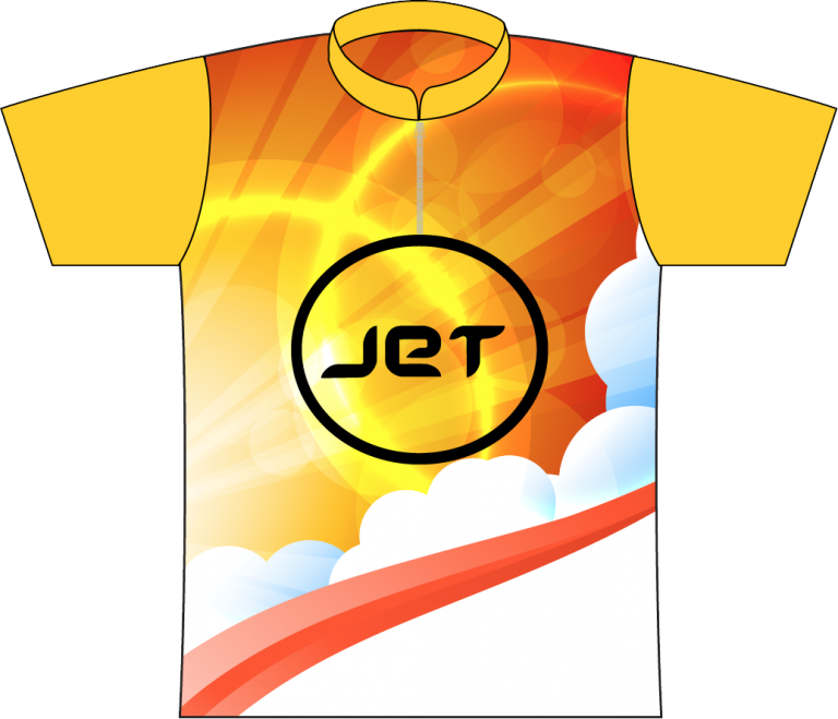 JET BOWLING SUNRISE DYE SUBLIMATED JERSEY